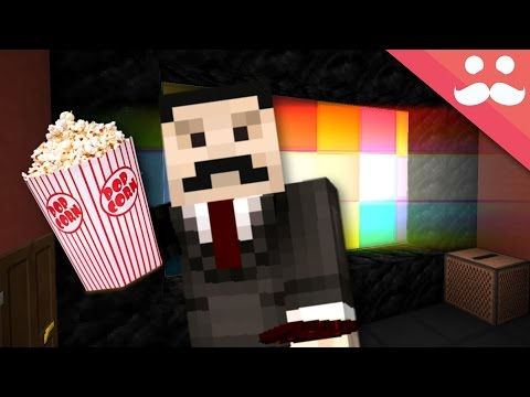 How To Build a WORKING CINEMA in Minecraft!