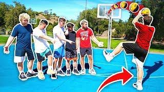 Impossible James Harden 1 Leg NBA Basketball Challenge!