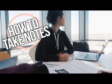 DO HOMEWORK WITH ME: HOW I TAKE NOTES!