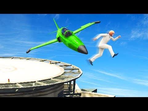 YOU WONT SURVIVE THIS MILE HIGH JUMP! (GTA 5  Funny Moments)