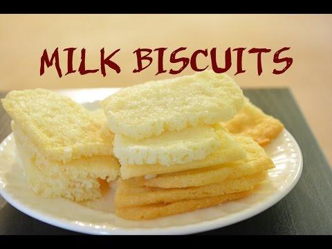 Eggless Milk Biscuits Recipe