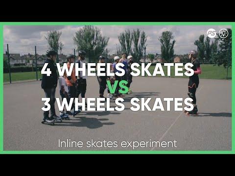 Triskates VS 4 wheel skates experiment | Skatefresh x Powerslide Inline Skates