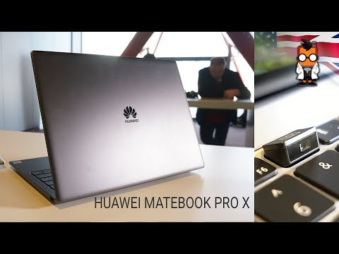 Huawei Matebook X Pro Laptop Hands On at MWC 2018