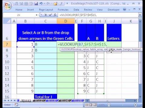 Excel Magic Trick #111: Build A Questionnaire