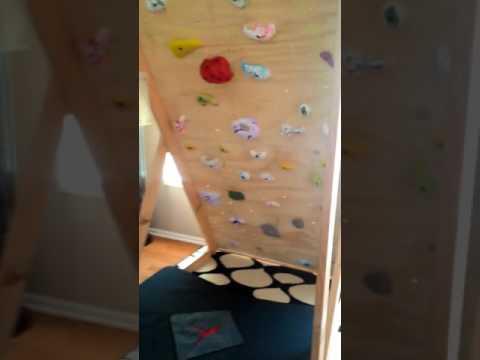 Freestanding rock climbing wall