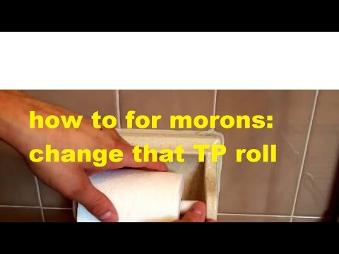 How to change the toilet paper roll video