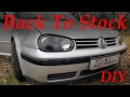 How to install your stock shocks and springs - Golf 4