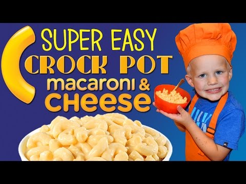 Kid Size Cooking: Easy Crock Pot Mac and Cheese