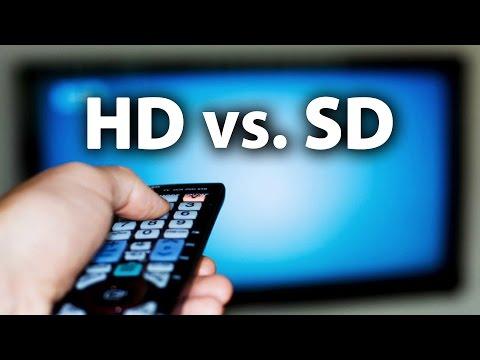 HD vs. SD -- High / Standard Definition Comparison Video & Explanation