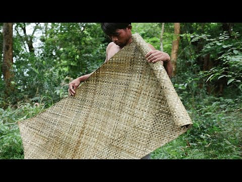 Primitive Technology, Making mat from screw-pine in the wild