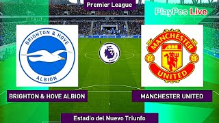 PES 2020 - Brighton & Hove Albion vs Manchester United - Full Match & Goals - Gameplay PC