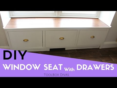 How to Make a Window Seat with Drawers