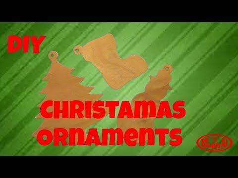 DIY Wooden Christmas Tree Ornaments!