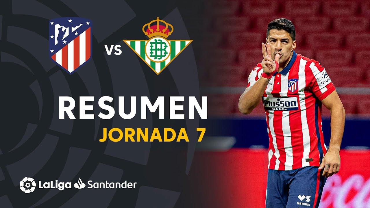 Resumen de Atlético de Madrid vs Real Betis (2-0)