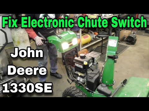 How To Fix Electric Chute Control Switches On John Deere 1330SE Snowblower Murray,Snapper,Simplicity