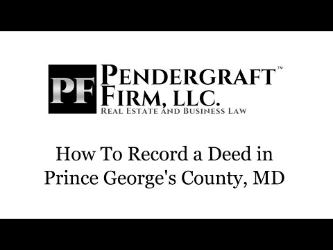 How To Record a Deed in Prince George's County Maryland