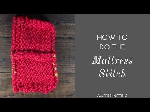 How to Do the Mattress Stitch