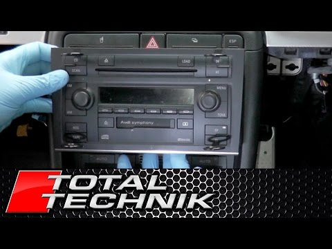 How to Remove Double Din Stereo - Audi A4 S4 RS4 - B6 B7 - 2001-2008 - TOTAL TECHNIK