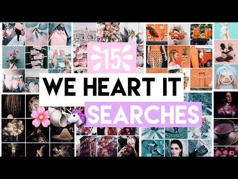 WE HEART IT SEARCHES #1 | 15 INSTAGRAM THEME IDEAS💡