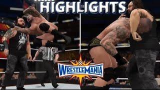 WWE 2K17 RANDY ORTON VS BRAY WYATT   WRESTLEMANIA 33 - PREDICTION HIGHLIGHTS