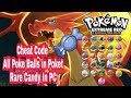 Cheat Code All Balls And Rare Candy Pokemon  Extreme Red GBA hack roms