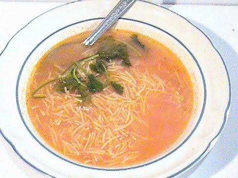 como preparar la  rica sopa de fideo