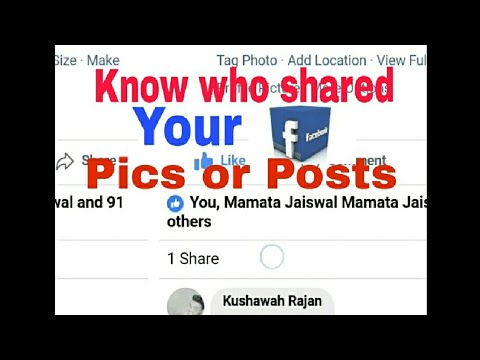 How to know who shared your Facebook pics and posts.