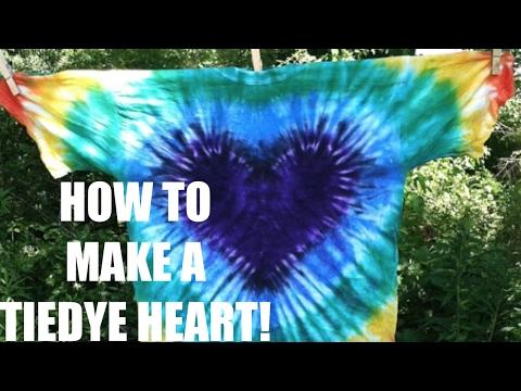 TIE DYE HEART TUTORIAL