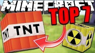 Top 7 MINECRAFT EXPLOSIONS (Minecraft Nukes, TNT)