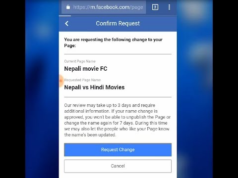 How To Change Facebook Page Name On Mobile
