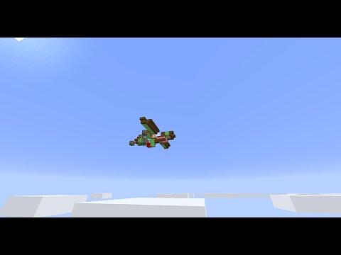 Working Minecraft Bomber Plane (No Mods! No Command Blocks!)