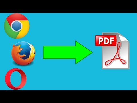 How to Convert WEB PAGES into PDF Files in Any Browser