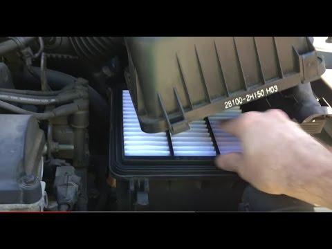 HowTo Replace Engine & Cabin Air Filters in 3 min Hyundai Elantra 2009
