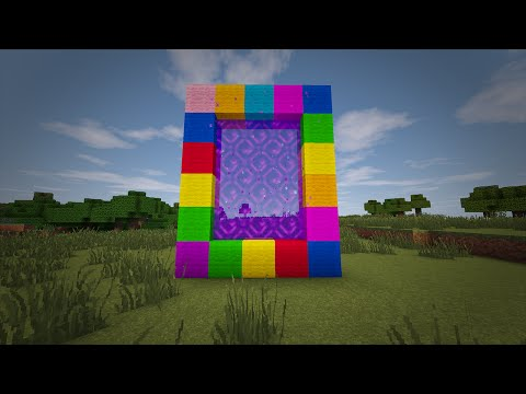 Minecraft - How to make a Portal to CANDY LAND!! (No mods)