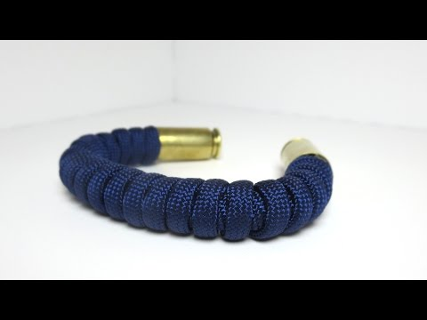 How to make an IMPROVED Bullet Casing Paracord Bracelet (No Gap)