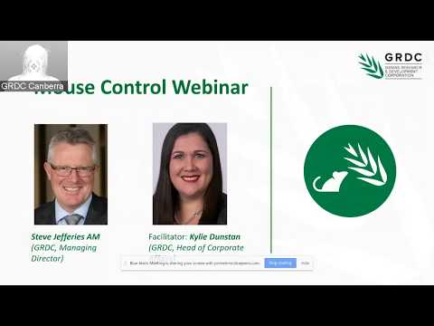 Mouse Control Webinar and Q&A | researchers, growers, tech experts and GRDC staff talk Mouse Control