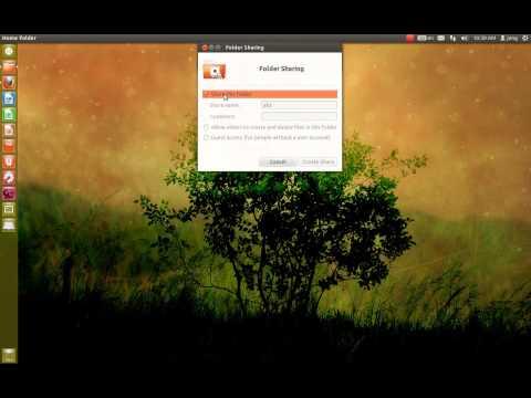set permission sharing ubuntu