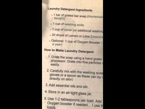 Laundry Detergent recipe using YL essential oil
