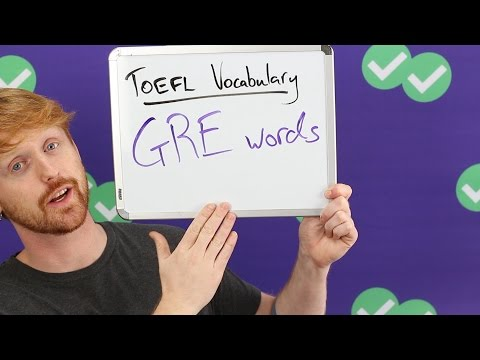 TOEFL Tuesday: Vocabulary for the GRE and TOEFL
