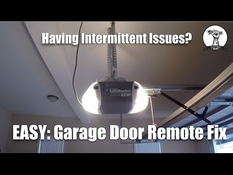 EASY: Garage Door Opener Not Working or Intermittent Fix