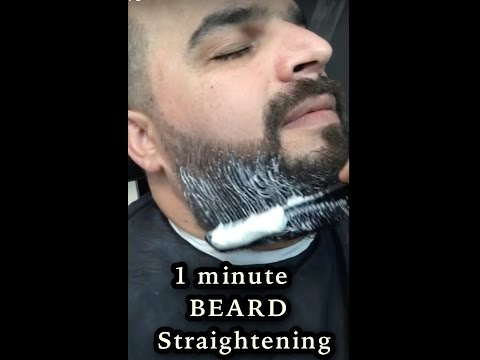 BEARD STRAIGHTENING FOR MEN | CURLY TO STRAIGHT STRAIGHTENING | BEARD TRIM | DUBAI 217