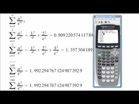 Sequence of Partial Sums witha  Graphing Calculator