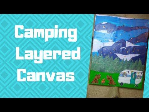 Camping Layered Canvas ~Jump Into July Hop