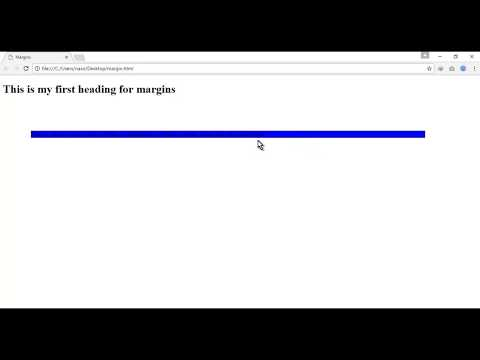 CSS/CSS3 Video Tutorial About CSS Margin in Urdu/Hindi for beginners