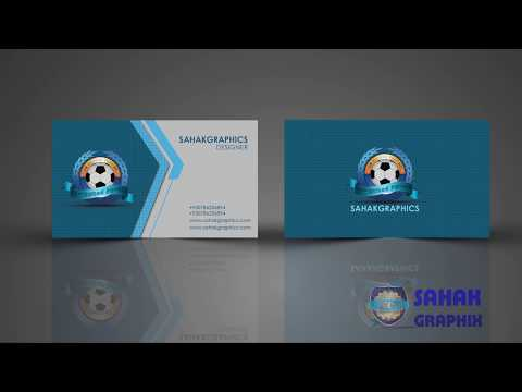 Photoshop tutorial | Business Card Design | by sahak Graphics