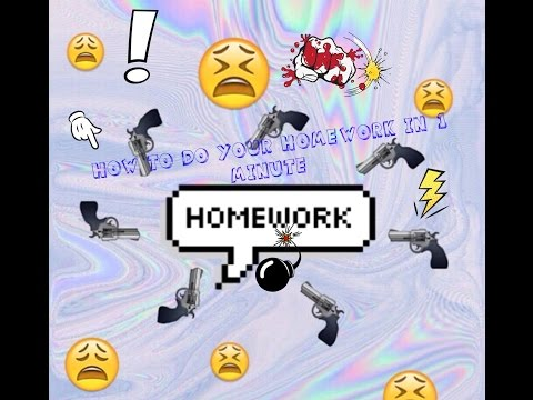 How To Do Your Homework In 1 Minute! (Comedy Skit)