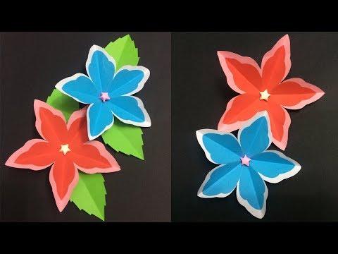 How to Make 5 Petal Paper Flower | Making Paper Flowers | DIY-Paper Crafts