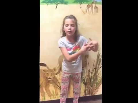 Talented pediatric dental patient and The Pledge of allegiance