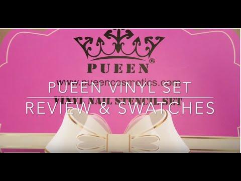 PUEEN  Vinyl Nail Stencil Set 1 - Review & Swatches