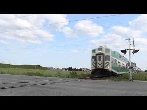 GO Train Crossing The Busway